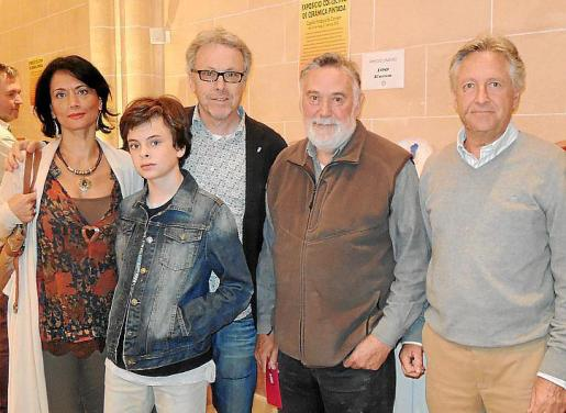 Pilar Ollers, Alejandro Maraver, Luis Maraver, Joan Lacomba y Guillem Coll.