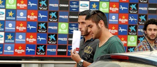 Los canteranos Marc Fernández y Abdón Prats también se reunieron ayer con Serra Ferrer.