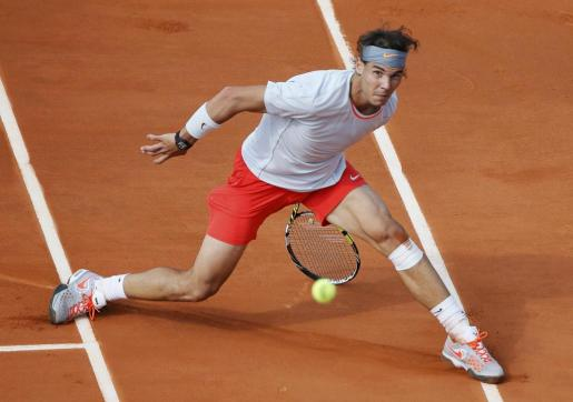Rafael Nadal, en uno de los momentos del partido frente a Wawrinka.