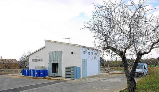 Imagen de las instalaciones de extracción de agua ubicadas en la finca de s'Estremera.