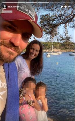 Saúl Craviotto y su familia, de vacaciones en Mallorca