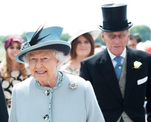 La reina de Inglaterra, con su marido el duque de Edimburgo.