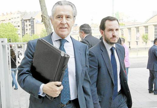 Miguel Blesa, momentos antes de declarar ante el juez y de ingresar en prisión.