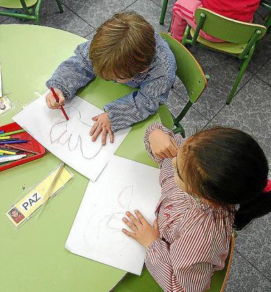 Imagen de archivo de alumnos de un centro concertado.