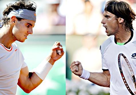 Nadal y Ferrer de enfrentarán en la final de Roland Garros.