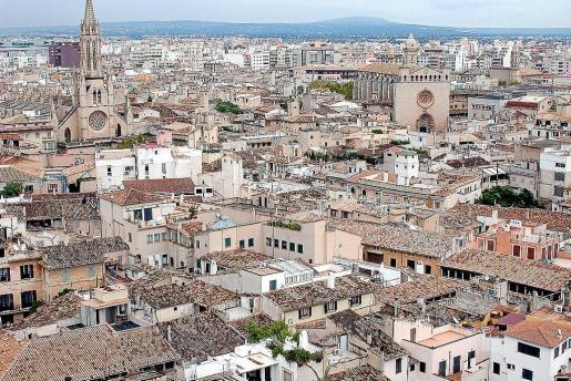 Vista general del centro histórico de Palma.