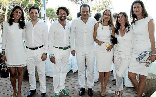 Eugenia Frau, Jesús Valls, Luis Moreno, Gabriel Escarrer, Belén Puerto y María Antònia y Mercedes Escarrer.
