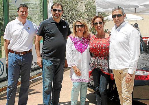 Toni Cañellas, Manuel Serra, Fina Costa, Marga Monterde y Jaume Nadal.