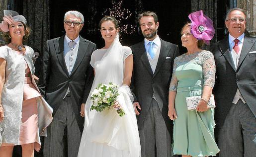 Carmen de España, Gabriel Garcías, Carmen Garcías, Pau Camarasa, Consuelo Grijalbo y Josep Camarasa.