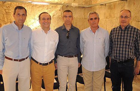 Pedro Sastre, Lluís Ramis, Biel Bauzà, Jaume Amengual y Toni Amengual.