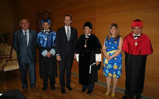 Antoni Verd, Jaume Carot, José Ramón Bauzá, Llorenç Huguet, Joana María Camps y Pedro Grimalt.