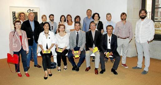 Galeristas y representantes de instituciones, ayer durante la presentación de PalmaPhoto.