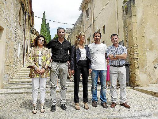Buades, Cifre, Palmer, Roca y Alonso ayer en Pollença.