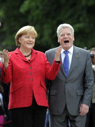 La canciller Angela Merkel y el presidente Joachim Gauck.