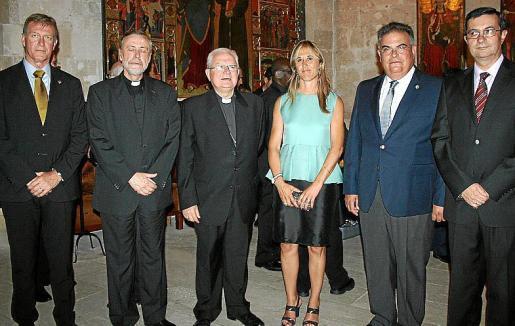 Antonio Vera, Lluc Riera, Javier Salinas, Teresa Palmer, Bartomeu Barceló y Víctor M. Navarro.
