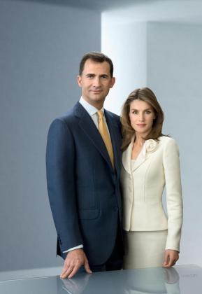 Fotografía oficial de los príncipes de Asturias,