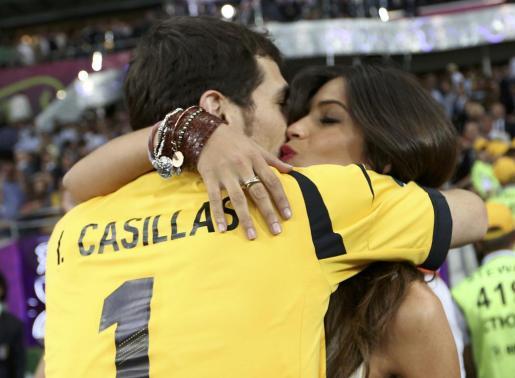 Foto de archivo de Iker Casillas y Sara Carbonero..