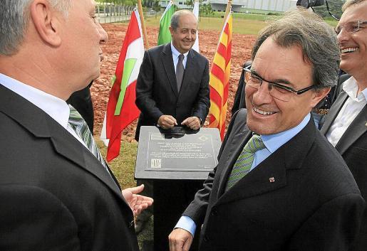Artur Mas, durante la visita que realizada ayer a la empresa Veico (Fluidra) en Brasil.