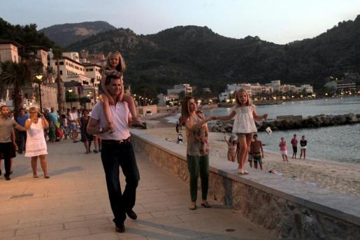 Los príncipes de Asturias y sus hijas, el pasado verano en Sóller.