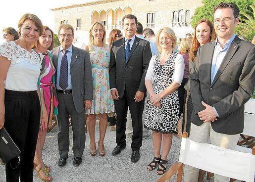 Margalida Duràn, Margalida Roig, Llorenç Huguet, Catalina soler, Xavier Company, Núria Riera, Neus Lliteras y Jaume Joan.