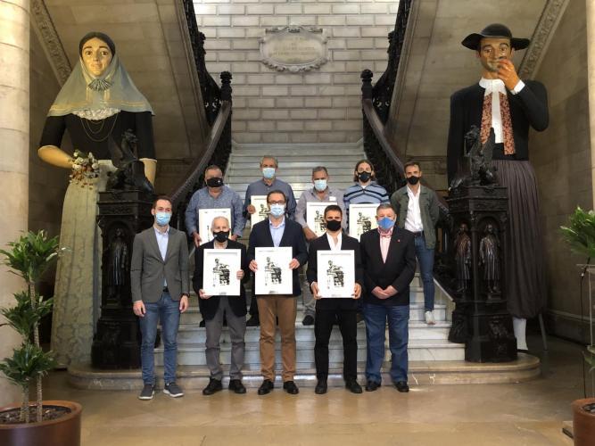 Homenaje del Ajuntament de Palma a jugadores de EHC