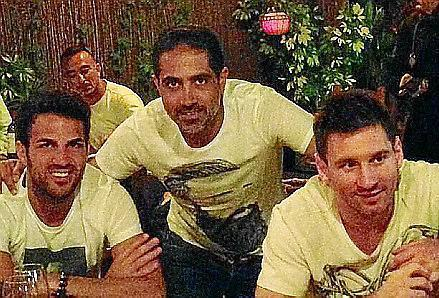 Los tres jugadores del Barça están disfrutando de unos días de descanso en Ibiza.