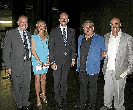 Pep Egea, Ángela Seguí, José Ramón Bauzá, Joan Calafat y Tolo Barceló.