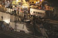 Grave accidente de tren en Santiago con decenas de fallecidos