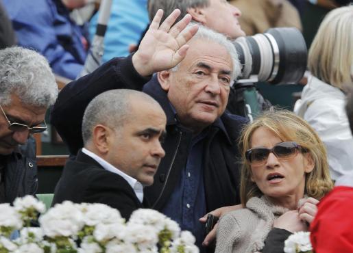 Strauss-Kahn, en la última edición de Roland Garros.