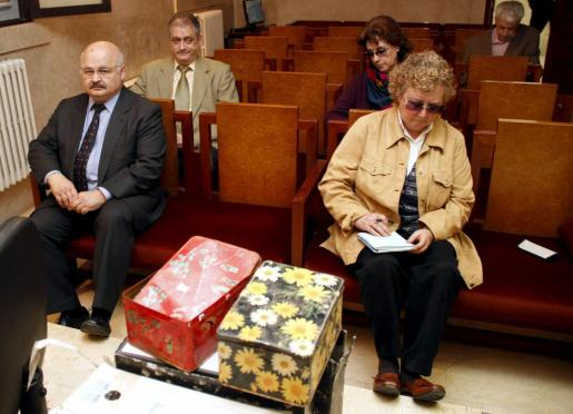 Josep Juan Cardona y Antonia Ordinas, durante el juicio por el caso Scala.