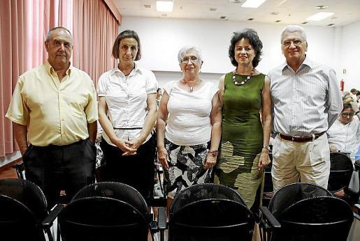 Vicente Moll, Encarna Miguel, Francisca Mir, Elena Marzo y Jaume Lliteras.