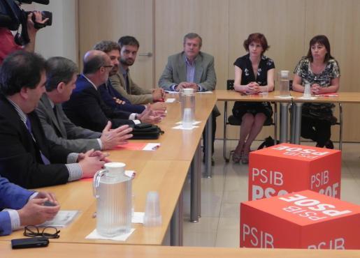 Reunión de los socialistas de Balears con algunos empresarios afectados por los nuevos impuestos que anunció el Govern.