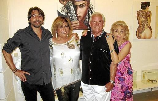 Abdón Miguel Saurina, Cati Mestres, Miguel Moll y Lucía Aguiló.