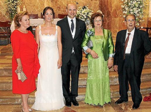 Maciana Rosselló, Antònia Marqués, Antonio Serra, Eulàlia Torres y Antonio Serra