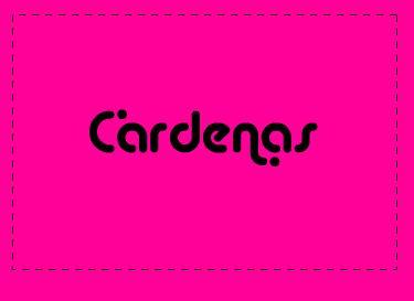 Logotipo de la peluquería Cárdenas.
