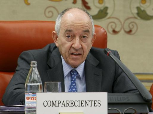El gobernador del Banco de España, Miguel Àngel Fernández Ordóñez, durante una comparecencia ante la Comisión de Economía del Congreso de los Diputados.