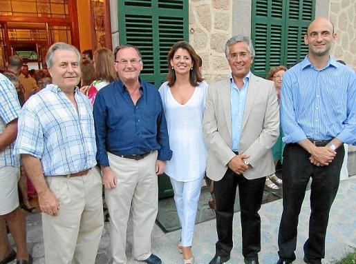 Jaume Orell, Francesc Fiol, Maria Antònia Garcia, Rogelio Araújo y Joaquín Bordonado.