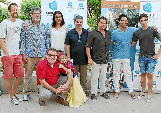 Conocidos artistas visitan la sede de la Fundació Natzaret