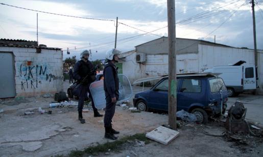 El operativo se inició a las ocho de la tarde-noche de ayer en el poblado de Son Banya.
