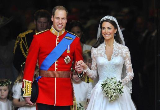 Fotografía de archivo del enlace entre el príncipe Guillermo y Kate Middleton.