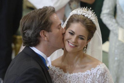La princesa Magdalena de Suecia y Christopher O'Neill, en su boda.