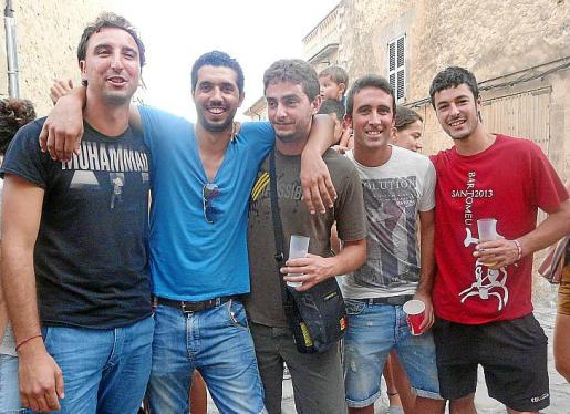 Llorenç Munar, Aziz Azirar, Andreu Galletes, Miquel Bordoy y Tomeu Melià.