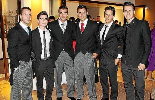 Alberto Piqueras, Dani y Sergi Besalduc, Daniel Castellano, José Manuel Sánchez y Albert Gibert.