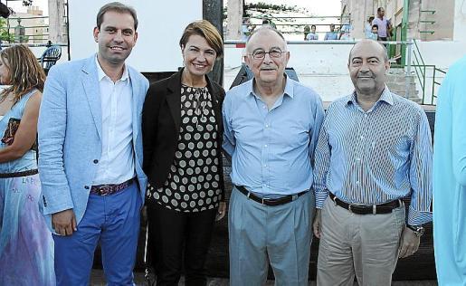 César Vicente, Margalida Duran, Tomeu Català y Antonio Gómez.
