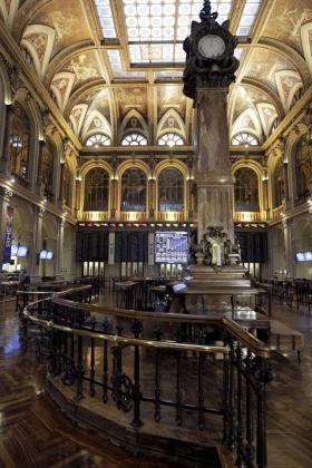 Vista de la Bolsa de Madrid.