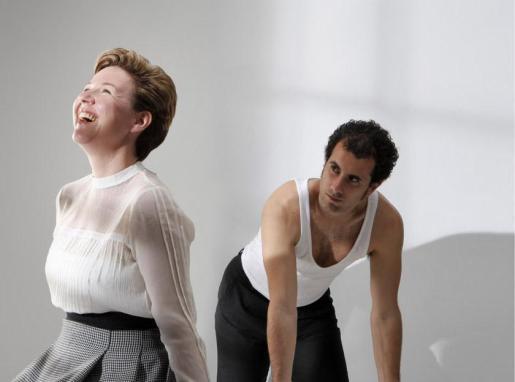 Marga Amengual y Jaume Mut, intérpretes de la obra de teatro 'La Senyora'.