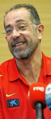 El seleccionador español, Juan Antonio Orenga, ayer en rueda de prensa.