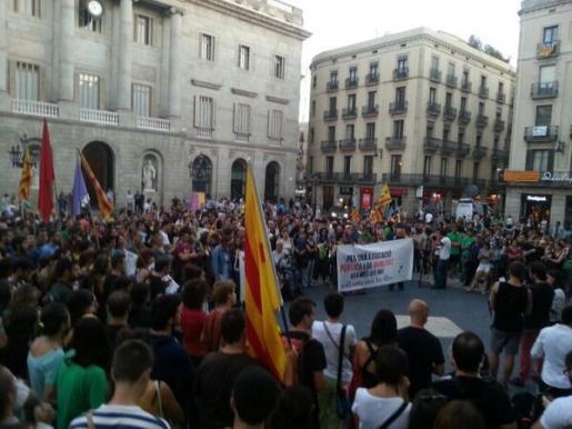 Imagen de la concentración celebrada en Barcelona.