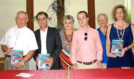 Pere Canals, Joan Jaume, Josefina Colom, Joan Barros, Úrsula Oliver y Maribel Soteras.