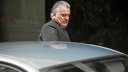 MADRID. DELITOS ECONOMICOS. El extesorero del PP Luis Barcenas abandona la Audiencia Nacional tras declarar.